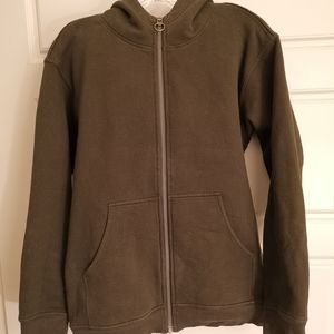 All Yours Zip Hoodie Dark Olive Size S